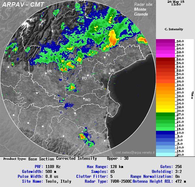 Clicca l'immagine per ingrandirla.  Nome: radar_arpav1.JPG Visualizzazioni: 18 Dimensione: 101.0 KB ID: 73080