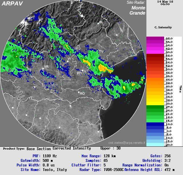Clicca l'immagine per ingrandirla.  Nome: radar_arpav1.JPG Visualizzazioni: 22 Dimensione: 101.9 KB ID: 89891